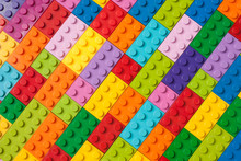 Colorful Background Made Of Plastic Cubes