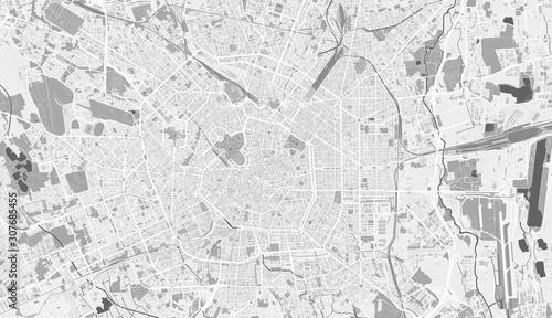 Valokuvatapetti Detailed map of Milan, Italy