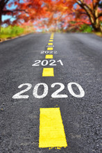 New Year 2020 To 2023 On Aspha...