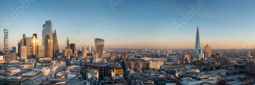 Vászonkép europe, UK, England, London, City Shard pano no scaffolding