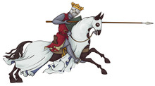 Medieval Knight On Horse.King....
