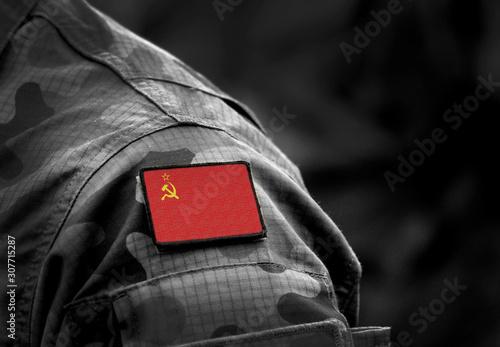 Fotomural  Flag of the Soviet Union on military uniform