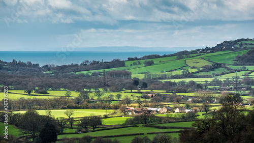 Fotografía  Scenic View of the Undulating Countryside of Somerset