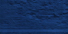 Panoramic Wall Of Classic Blue...
