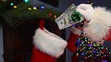 A Close-up Of Santa Claus's ...