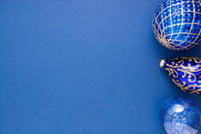 Christmas Blue Abstract Backgr...