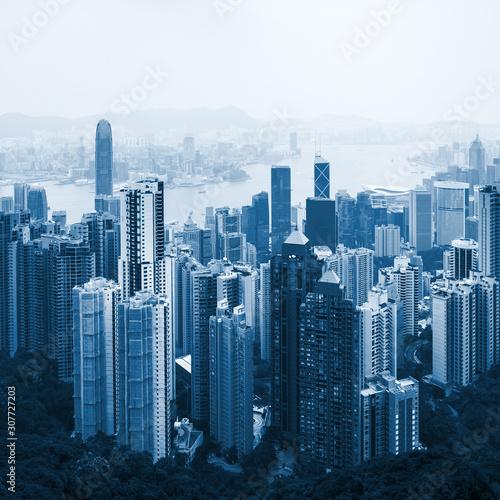 hong-kong-downtown-view-blue-toned
