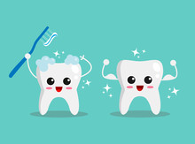 Happy Face Tooth Illustration ...