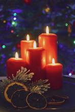 Świąteczne Zapalone świece ...