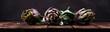 artichokes on rustic background. fresh raw organic artichoke flower.
