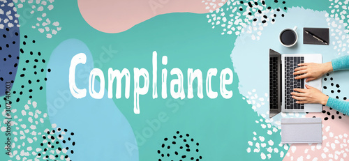 Compliance with person using a laptop computer