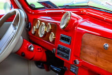 Bright Red Classic Antique Car...