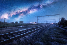 Milky Way Over The Railway Sta...