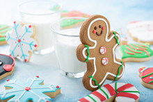 Gingerbread Man Cookie With Mi...