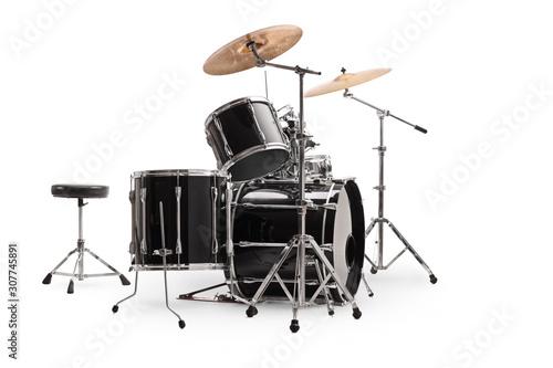 Stampa su Tela Side shot of a modern drum kit