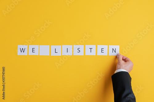 We listen sign Canvas Print