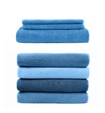 Set Of Stacks Of Blue Towels I...