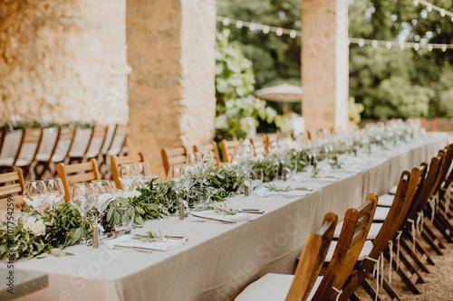Fotografía Tables de mariage