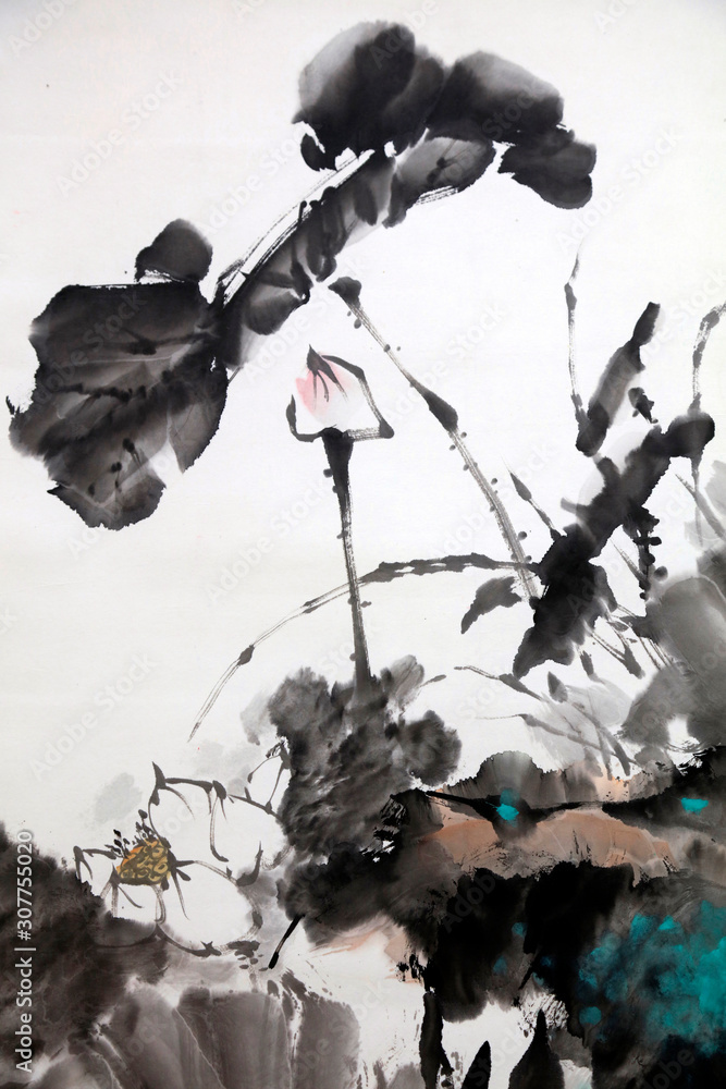 Chinese traditional ink painting