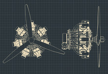 Radial Engine Blueprints