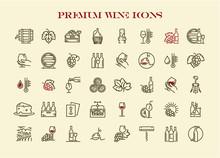 Wine Icons Set. Premium Quality Wine Icons Collection.