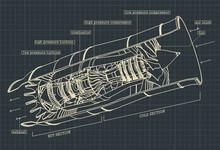 Turbojet Engine Drawings