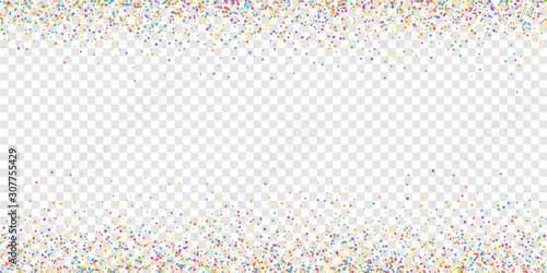 Carta da parati Festive confetti. Celebration stars. Childish brig