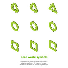Isometric Green Zero Waste Sym...