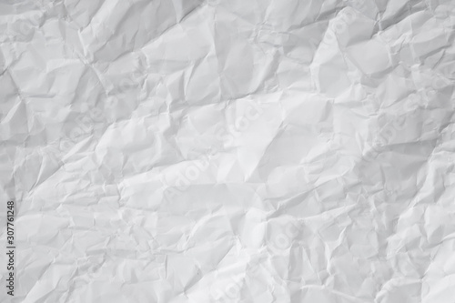 Fotografie, Obraz  white and gray crumpled paper texture background