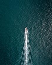 Birds-eye View Of Boat Flying ...