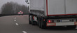 truck highway traffic evening panorama
