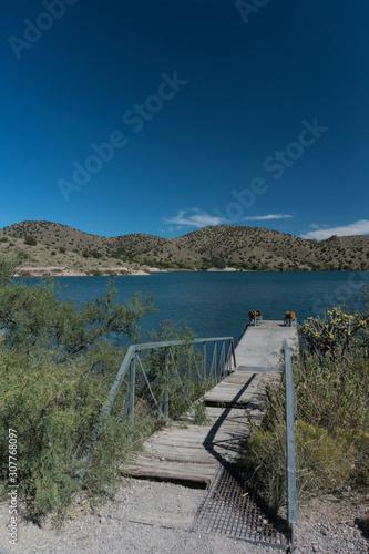 фотография Vertical, Bill Evans lake dock in southwest New Mexico.