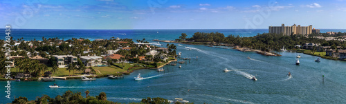 Aerial view of Loxahatchee River from the Jupiter Inlet Lighthouse Fototapet