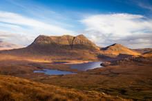 Cul Mor Mountain Seen From Stac Pollaidh, Assynt, Scotland