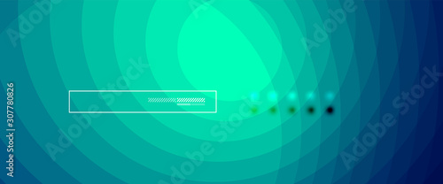 Abstract color gradient fluid design background Canvas Print