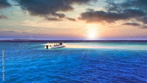 Fotomural 空と海とサンセット
