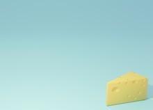 チーズイメージ背景3DCGの画像