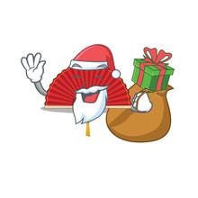 Santa With Gift Chinese Foldin...
