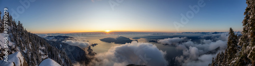 St Mark's Summit, in Howe Sound, North of Vancouver, British Columbia, Canada Wallpaper Mural
