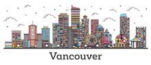 Outline Vancouver Canada City ...