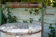 Old Chain Well In Summer