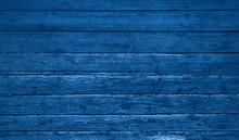 Blue Wooden Background With Sh...