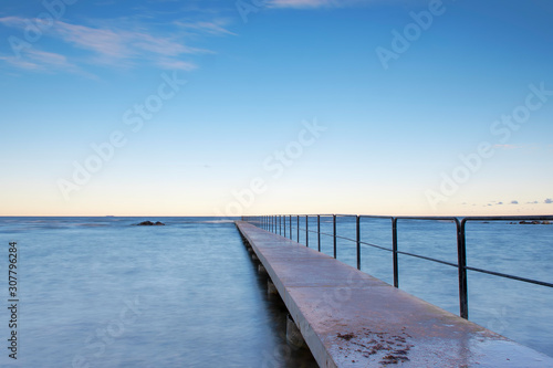 Cuadros en Lienzo Bath pier during sunrise at island of Gotland, Sweden