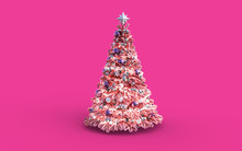 Decorated Pink Christmas Tree ...
