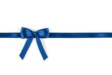 Shiny Blue Silk Ribbon Isolate...