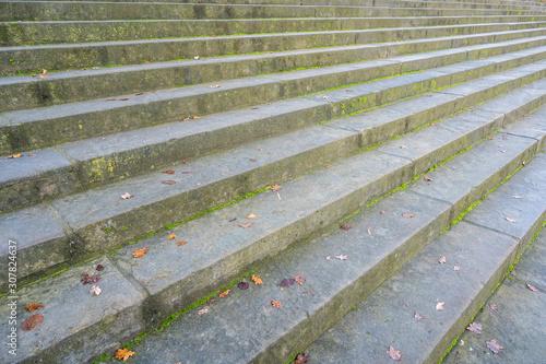Große alte Treppe als Metapher für Aufstieg oder Abstieg Canvas Print