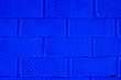 canvas print picture - Background of brick wall pattern texture. Blue toned.