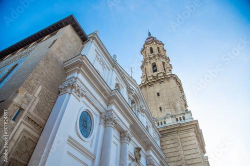 Zaragoza November 29, 2019, Seo Cathedral in Zaragoza Spain