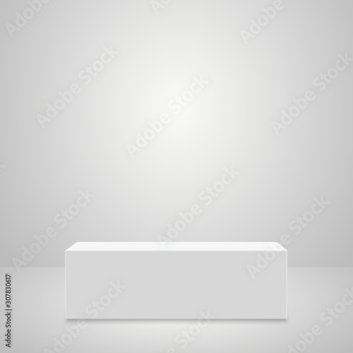 Fotografie, Obraz Abstract simple realistic pedestal template