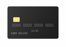 Black Empty Credit Card With S...